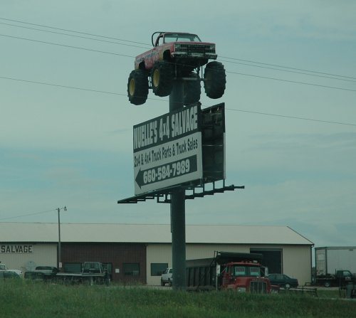 It's a monster truck and it's way up in the sky! Kansas (2007)