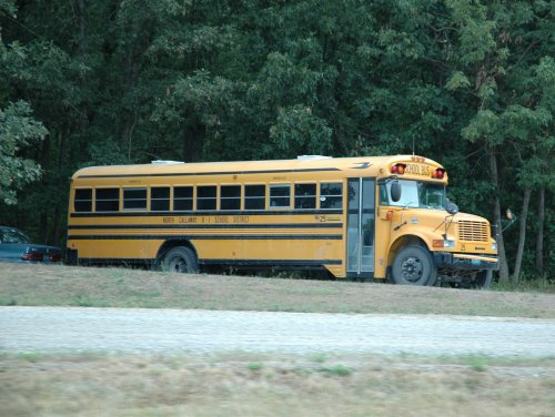 Another big old American school bus. Missouri (2007)