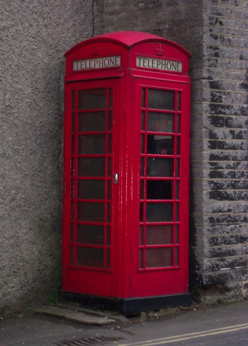 One of those red telephone boxes you seldom see these days, Peak District (2006)