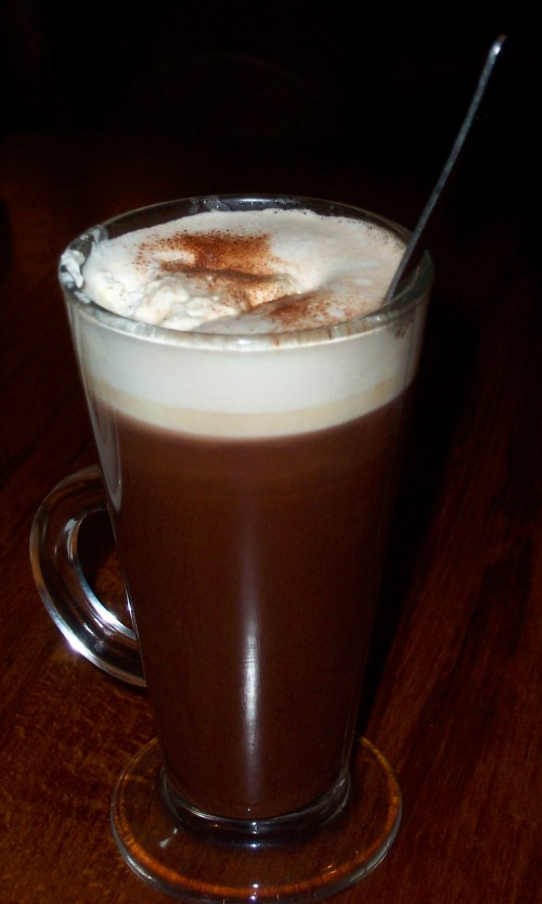 The Hot Chocolate drink I had in the nice pub, Peak District (2006)