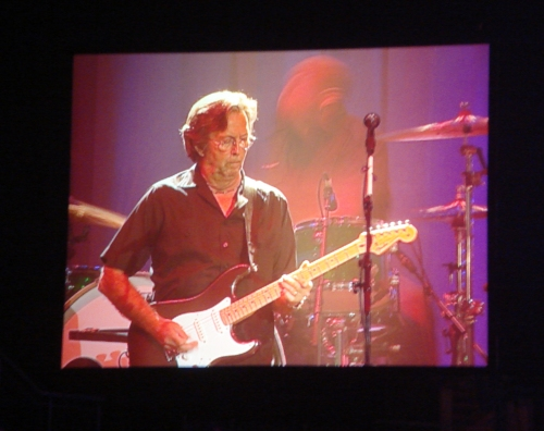 Eric Clapton on the big screen. Nottingham (2008)