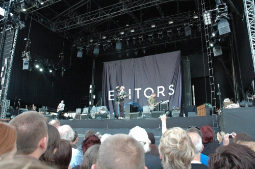 Editors take to the stage. Manchester (2008)