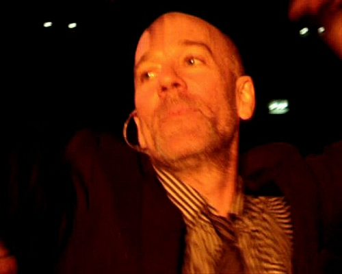 This how close Michael Stipe came to us when we were in the crowd! Have a look at the