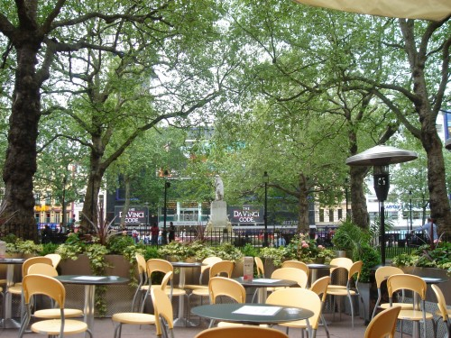 A nice café in Leicester square where I had a Hot Chocolate, London (2006)