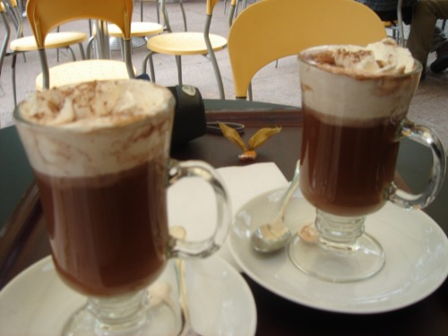 The expensive Hot Chocolate I had in the nice café, tasted like rice pudding, London (2006)