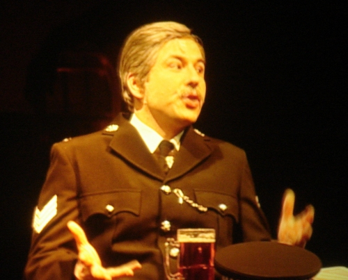 A police orifficer with a pint of bitter, Nottingham (2006)