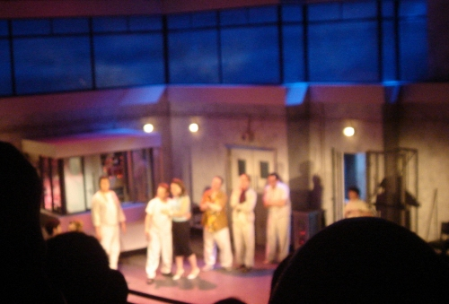 A sneaky picture of One flew over the Cuckoo's nest on stage, London (2006)