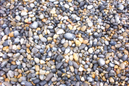 There's not much of a beach, just lots of pretty pebbles, Sheringham (2006)