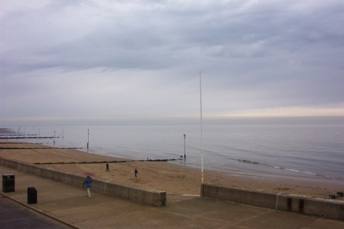 A deserted beach, not the nicest coastal town in Norfolk, Hunstanton (2006)