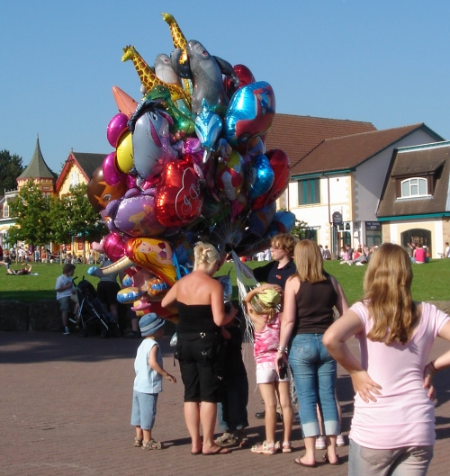 Lots and lots of colourful balloons for sale, Alton Towers (2006)