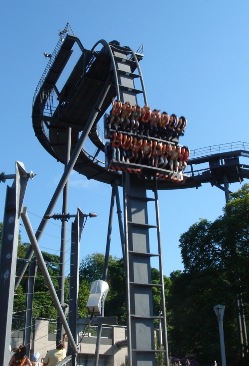 The Oblivion ride, down it comes, Alton Towers (2006)
