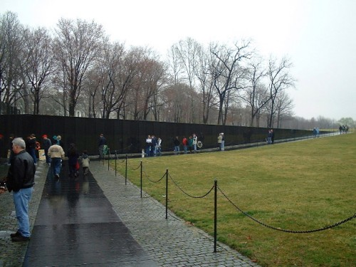 The Vietnam war memorial in Washington D.C. (2002)