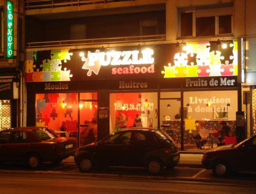 The Puzzle Seafood restaurant in Reims, it was either seafood or Dominos pizza… so we chose to go for seafood seeing as we were on the continent! France (2006)