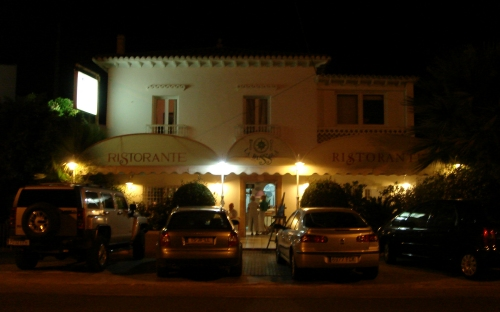 A lovely restaurant just outside Altea, where we had pasta and pizza, Spain (2006)