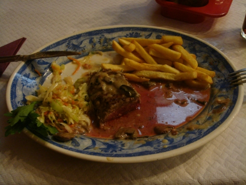 A bloody steak, it was bloody nice, Spain (2006)