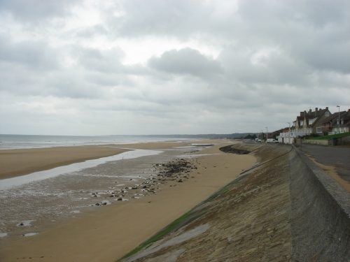 Omaha beach, one of the Normandy beaches where the Allied Forces landed on D-Day, France (2006)