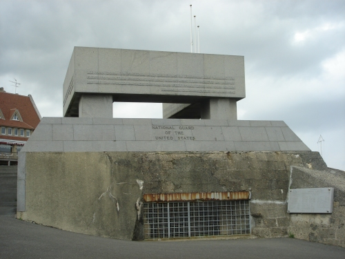A U.S. monument built on top of an old German bunker which was used by the German's to defend Omaha beach, France (2006)