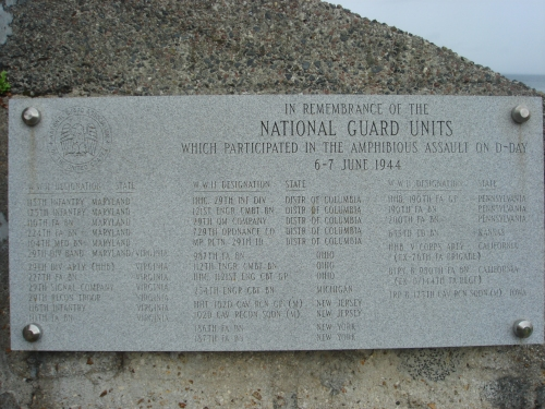 In remembrance of the National Guard Units which participated in the amphibious assault on D-Day 6-7 June 1944, France (2006)