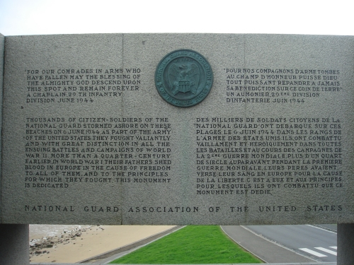 Part of the U.S. memorial at Omaha beach, France (2006)