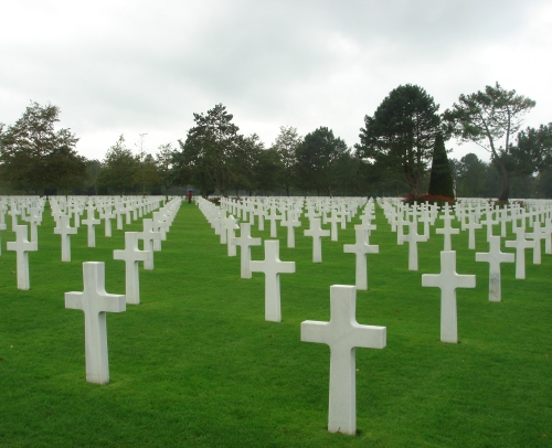 The countless graves of American soldiers which died around the time of the Normandy beach landings in 1944, France (2006)
