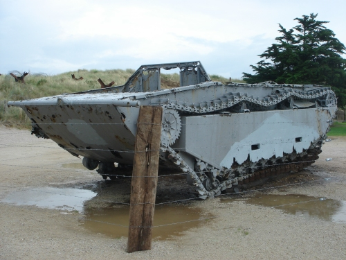 One of the boats used by the American forces to land soldiers on the beaches on D-Day, France (2006)
