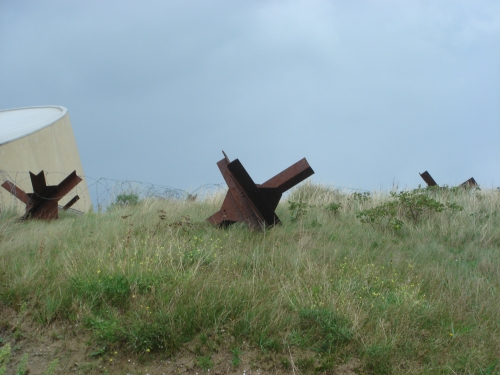 The obstacles placed on the beaches during the war to prevent Allied vehicles from gaining easy entry to the beaches, France (2006)