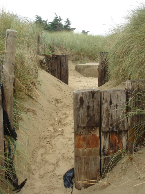 An entrance from Utah beach that would have been defended by the German forces, France (2006)