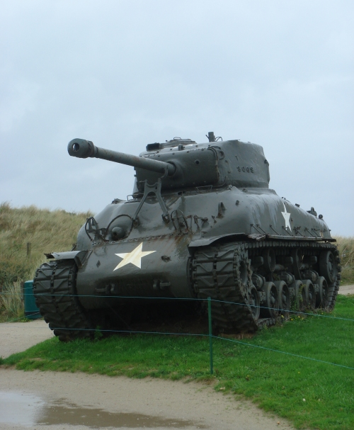 A mighty American tank used during World War II, France (2006)