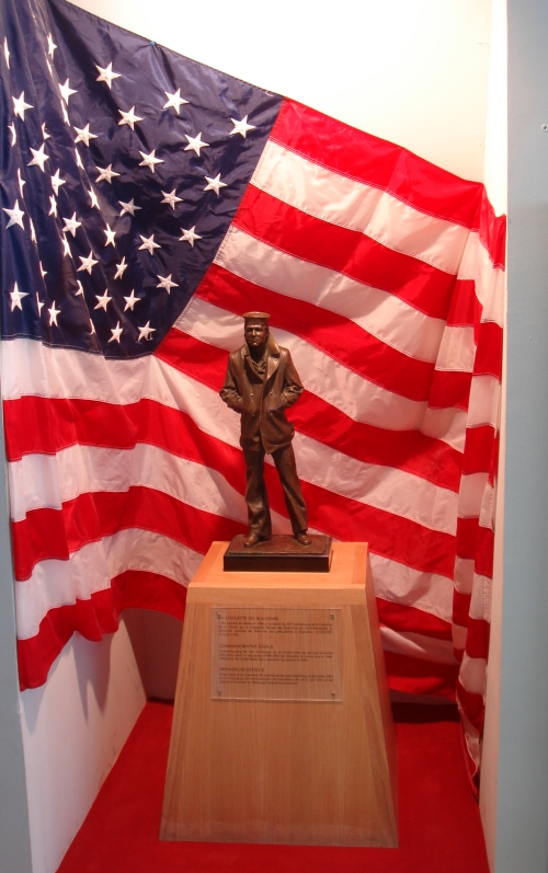 A miniature copy of a monument to the U.S. forces, France (2006)