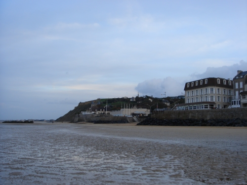Gold beach where the British forces landed on D-Day, France (2006)