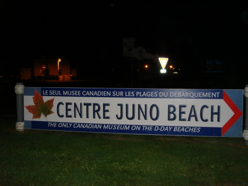 The main entrance to Juno beach where the Canadian forces landed on D-Day, France (2006)