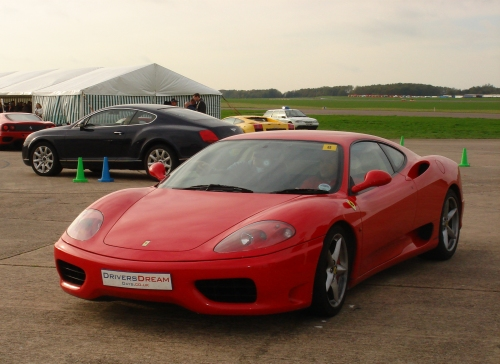A Ferrari, similar to the one I got to drive, Bruntingthorpe proving ground (2006)