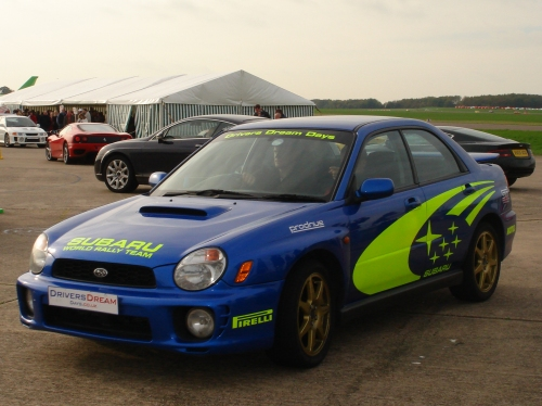 A Subaru, we were taken for a high speed lap around the track in one of these, going at around 130-140mph, Bruntingthorpe proving ground (2006)