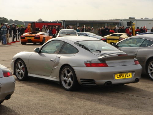 The backend of the Porsche 911 Turbo I got to drive, Bruntingthorpe proving ground (2006)
