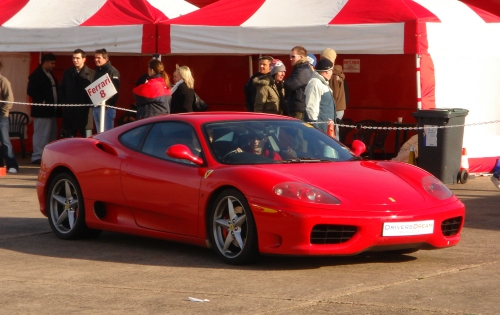 A pretty red Ferrari, Bruntingthorpe proving ground (2006)