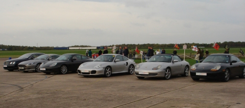 A selection of fast cars, which can be driven for around £100-£200, Bruntingthorpe proving ground (2006)