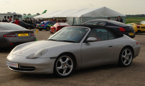 A soft top Porsche Carrera, Bruntingthorpe proving ground (2006)