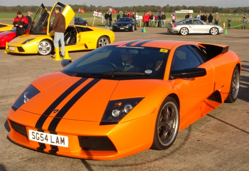 A Lamborghini, probably the fastest vehicle available to drive on the day, Bruntingthorpe proving ground (2006)