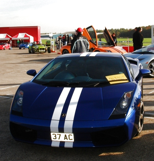 A Lamborghini, which you can pay on the day to drive for around £150, Bruntingthorpe proving ground (2006)