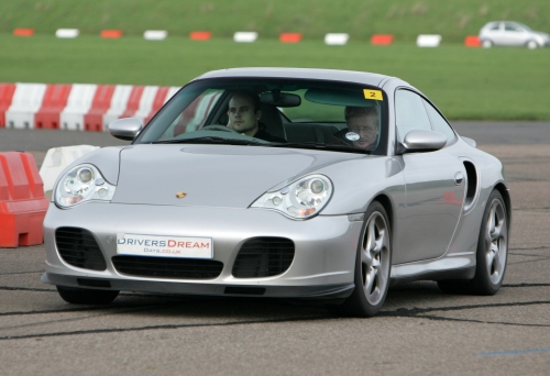 The Porsche 911, my favourite car, I drove it fast (about 120mph I think!), it was comfortable inside too, Bruntingthorpe proving ground (2006)