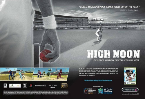 An Official poster for Brian Lara International Cricket 2007, UK (2007)