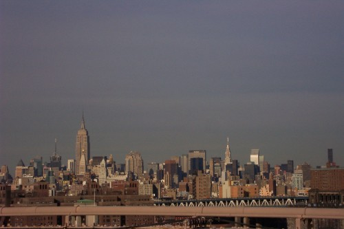 A view of upper Manhattan from Brooklyn Bridge, New York (2006)