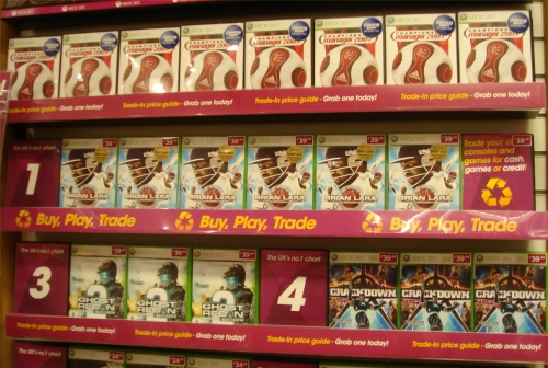 Brian Lara 2007 debuts at Number 1 in the Xbox 360 charts at GAME, Norwich (2007)