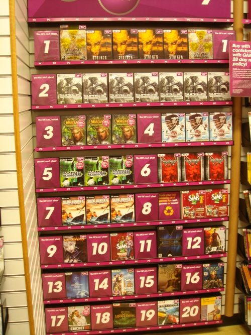Brian Lara 2007 debuts at Number 4 in the PC charts at GAME, Norwich (2007)