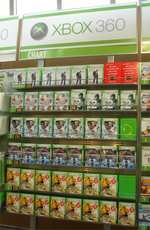 Brian Lara 2007 debuts at Number 2 in the Xbox 360 charts at Virgin Megastore, Norwich (2007)
