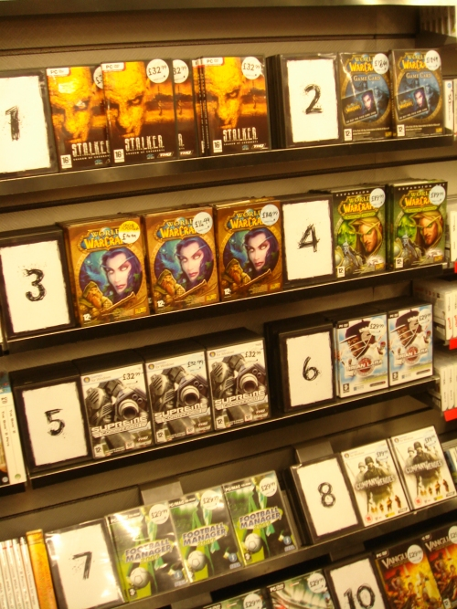 Brian Lara 2007 debuts at Number 6 in the PC charts at Gamestation, Norwich (2007)