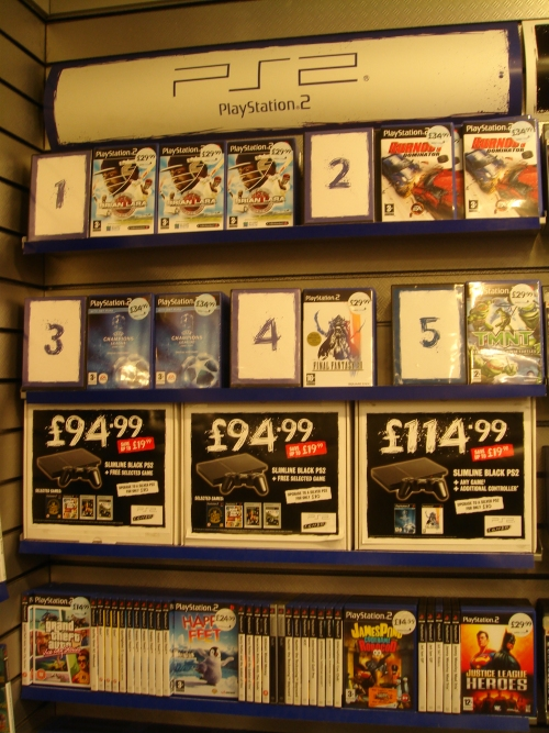 Brian Lara 2007 debuts at Number 1 in the Playstation 2 charts at Gamestation, Norwich (2007)