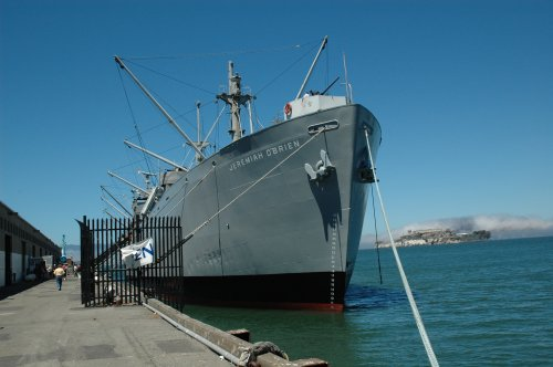 The Jeremiah O'Brien, a big battleship which tourists can go on to. San Francisco (2007)