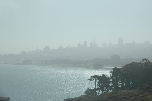 The view of downtown from The Golden Gate Bridge. San Francisco (2007)