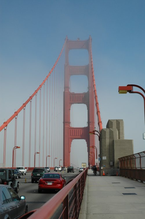 Walking across The Golden Gate Bridge. It was about a mile each way. San Francisco (2007)